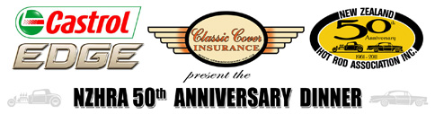 Castrol Edge & Classic Cover Insurance Ltd NZHRA 50th Anniversary Dinner